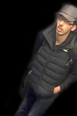 Manchester bomber Salman Abedi in an unknown location on the night of the attack on Manchester Arena.