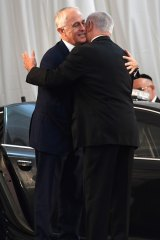 The prime ministers of Australia and Israel shared a warm bearhug and pledged deeper cooperation on cyber-security