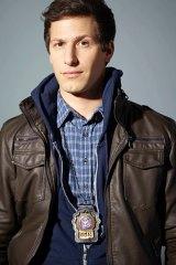 Andy Samberg as Detective Jake Peralta in Brooklyn Nine-Nine.