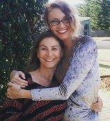 Bronwyn Atherton with her friend Diana Black in Ulladulla.