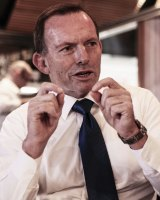 """I have not the slightest recollection of the claimed conversation with colleagues and I don't leak, even to The Australian,"" Tony Abbott told Fairfax Media."