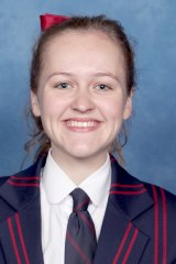 Barker College scholarship student Felicity Macourt.