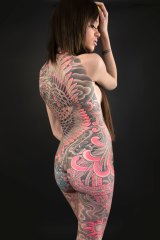 """""""The relationship between the client and the tattooist at this level is sacred,"""" says photographer Kip Fulbeck. Tattoo by  Stan Corona."""
