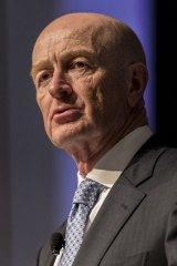 Glenn Stevens speaks at an economic conference in Brisbane on Wednesday.