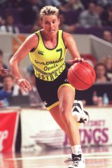 Michele Timms on the attack against the USA in 1996.