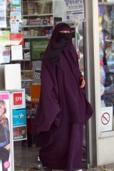 A French woman, pictured prior to her country's so-called burqa ban.