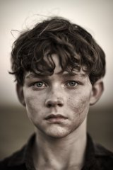 Coming of age: David Darcy's arresting portrait of actor Levi Zane Miller.