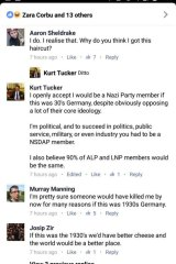 UQ LNP Club president Kurt Tucker said he would have been a member of the Nazi Party in the 1930s.