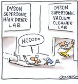 Dyson has branched out into hair dryers. Illustration: Matt Golding