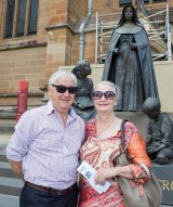 """Alan and Geraldine Lee from Brisbane after mass at St Mary's Cathedral: """"I don't think the man was evil, I think he just wasn't able to show any empathy."""""""