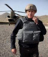 Prime Minister Malcolm Turnbull during a recent visit to troops in Afghanistan.
