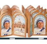 Mother Teresa souvenirs for sale on Rome's Via della Conciliazione, near the Vatican City.