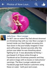 Screenshot of Julie Kosy's Facebook post recounting her father's experience.