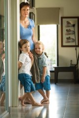 Embryo donor Natalie Parker with her sons Hugo, 3 (right) and Angus, 5.