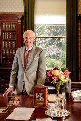 Outgoing governor Alex Chernov in  his study in Government House.