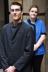 Luke Christodoulou and Genevieve Jones are doing work experience at the Raddisson Blu Plaza Hotel in Sydney.