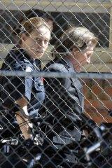 In court: Steven Bradley, the man accused of Michelle's 1983 murder.