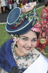 Spectacular hat winner Zorza Goodman.