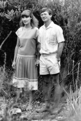 Dick Smith and wife Pip in Terrey Hills, 1987.