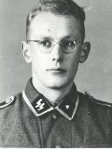 Oskar Groening as a young man in an SS uniform.