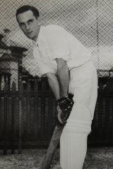 Ian Craig in the nets.