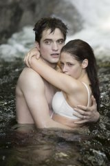 Kristen Stewart and Robert Pattinson in <i>Breaking Dawn - Part 1</i>, the third film in the Twilight vampire franchise that catapulted Stewart into the spotlight.