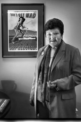 Joan Kirner in the offices of EMILY's List.