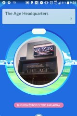 Stop by The Age HQ for some pokeballs, or maybe an egg.