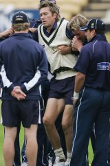 Glenn McGrath injured his ankle during warm up for the second Ashes Test at Edgbaston in 2005.