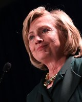 In the wings: Hillary Clinton will now feel that she can cast herself as the saviour of the beleaguered Democrats.