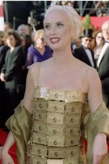 Lizzy Gardiner at the Academy Awards in 1995.