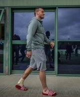 Josh Hodgson is walking with a slight limp.