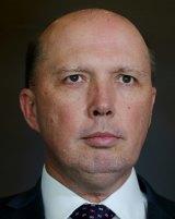 Immigration Minister Peter Dutton .