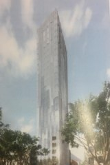The proposed skyscraper at 204 King Street, the site of the Great Western Hotel.