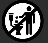 This logo means do not flush wipes.