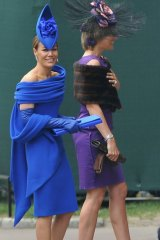 Tara Palmer-Tomkinson (left) was a friend of the royal family and is seen here attending the wedding of Prince William to Catherine Middleton in 2011.