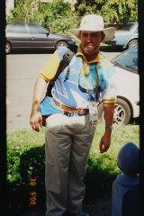 Copy photograph of Mark Grant at the Sydney 2000 Olympics.