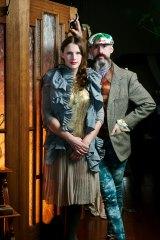 Fashion designer Gwendolynne Burkin and milliner Richard Nylon are celebrating 20 years of friendship.
