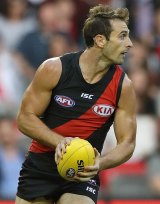 Jobe Watson looked fit and composed in his first game back after a year-long ban.