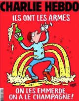 The cover of Charlie Hebdo after the Paris attacks.