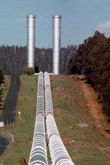 Hydro power in Tasmania.
