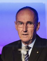 Lend Lease chairman David Crawford was grilled on the status of the East West Link on Friday.