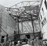 Exterior view of the National Gallery of Victoria under construction, 1966-67.