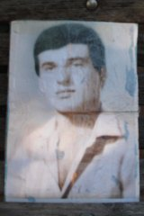 A faded photograph of Milad Youssef, whose family believe he was imprisoned in Syria.