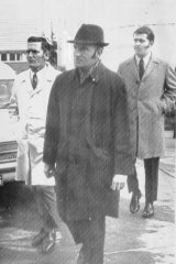 Senior detective Brian Murphy in the hat and on the job in July 1971.