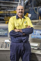 Neville Singh, who has worked for Capral since he was 19 years old.