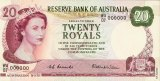 Prototype of the 20 Royals note created as decimalisation loomed.