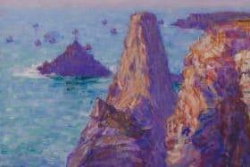 John Russell's The Needles, winter sun, Belle-Ile, 1903.