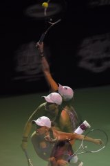 "Multiple exposure: Barty won two titles in Malaysia in ""probably  the best tennis week of my life""."