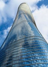 The glittering Shanghai Tower, which is proving hard to fill.